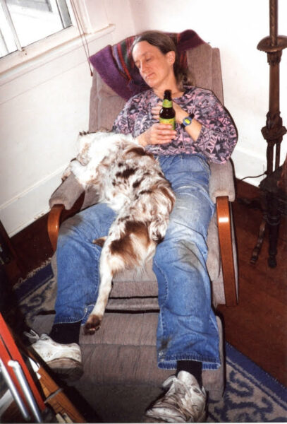 Donna Haraway with dog