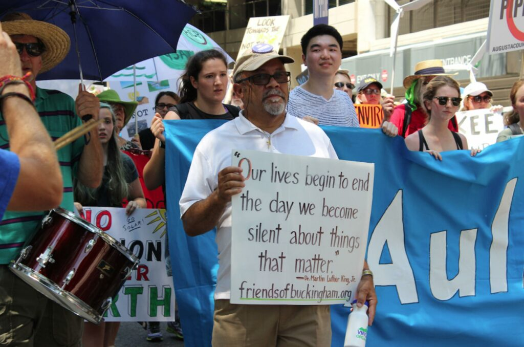 Pastor Paul Wilson protests for environmental justice