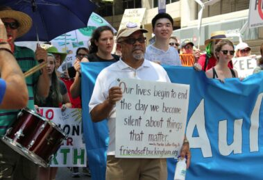 Pastor Paul Wilson protests environmental racism
