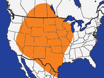 Arrowhead point distribution of Folsom culture
