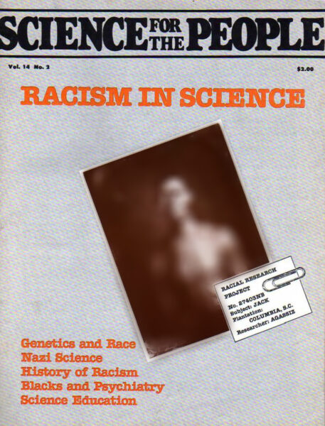 Cover of original issue featuring A History of the Concept of Race